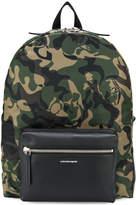 Alexander McQueen camouflage skull backpack