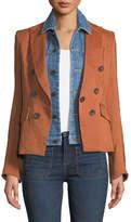Veronica Beard Diego Dickey One-Button Jacket