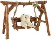 Rabbit Lovers Swinging Garden Bench Figurine