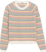 Miu Miu Striped Wool-blend Sweater - Ivory