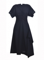 Eudon Choi Kei Dress in Black Virgin Wool