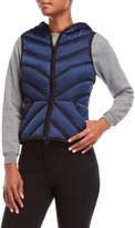 Blanc Noir Mesh Inset Hooded Down Puffer Vest