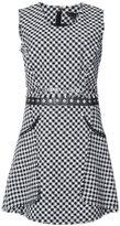 Alexander Wang fringe trim checked dress - women - Cotton/Nylon/Viscose - 6