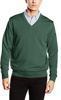 Maerz Men's Regular fit V-Neck Long Sleeve Jumper - Yellow -