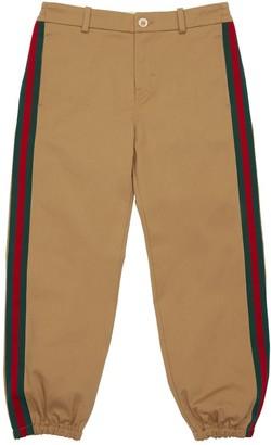 Gucci Stretch Gabardine Pants W/ Web Detail
