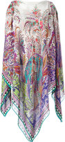 Etro multi printed poncho - women - Silk - One Size