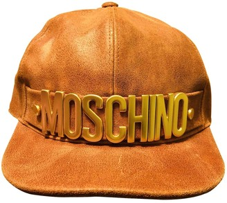Moschino Camel Leather Hats & pull on hats