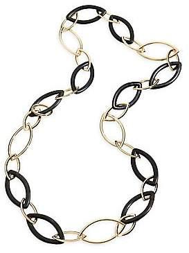 Vhernier Women's Pop 18K Rose Gold & Ebony Long Chain Necklace
