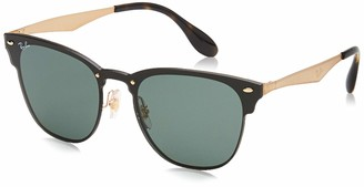 Ray-Ban Kids' Steel Unisex Square Sunglasses Brushed Gold 41.03 mm