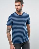 Levis Stripe Sunset Set In Pocket T-shirt Short Sleeved Dark Blue Indigo