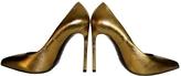 Saint Laurent Gold Leather Heels