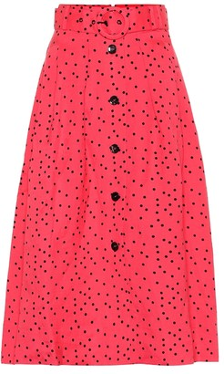 Rebecca Vallance Holliday linen-blend midi skirt
