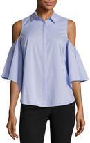 WORTHINGTON Worthington 3/4 Sleeve Button-Front Shirt