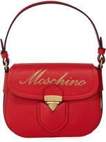 Moschino Saffiano Medium Logo Satchel Bag