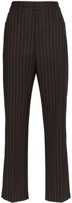 Sunflower pinstriped tailored trousers