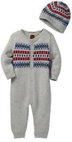 Tea Collection Fudo Sweater Romper & Hat Set (Baby Boys)