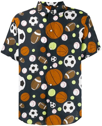 Thom Browne Sports Balls Print Shirt