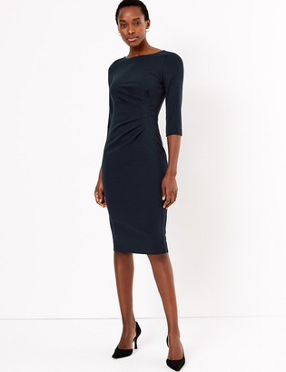 Marks and Spencer 3/4 Sleeve Tailored Dress
