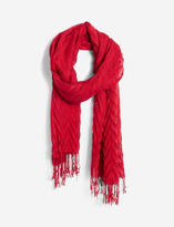 The Limited Pleated Fringe Scarf