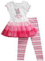 Sweet Heart Rose Sweetheart Rose Girls 2-6x Two-Piece Easter Bunny Legging Set
