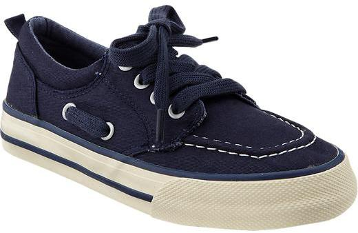 Old Navy Boys Lace-Up Canvas Boat Shoes