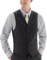 JCPenney THE SAVILE ROW CO Saville Row Charcoal Suit Vest - Slim