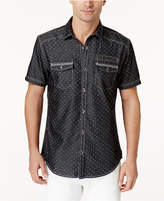 INC International Concepts Men's Dual-Pocket Dot-Pattern Shirt, Created for Macy's