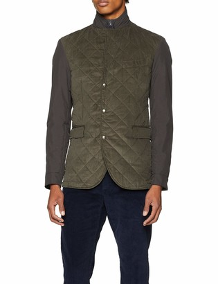 Hackett London Men's Quilted Cord BLZR Jacket