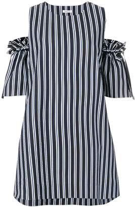 P.A.R.O.S.H. off-the-shoulder stripe dress