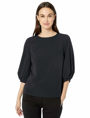 Lark & Ro Amazon Brand Women's Three Quarter Sleeve Blouse