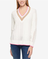 Tommy Hilfiger Cotton Mixed-Knit Cricket Sweater, Only at Macy's