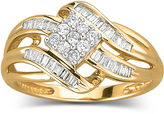 JCPenney FINE JEWELRY Diamond Ring 1/3 CT. T.W. 10K Gold