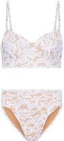 Norma Kamali Stretch-lace Bikini - White