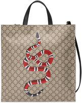 Gucci Kingsnake print soft GG Supreme tote
