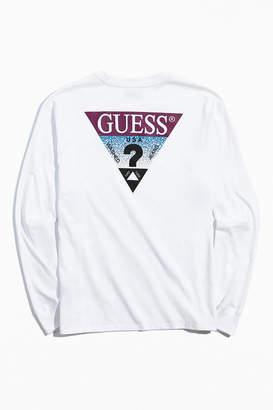 GUESS Triangle Logo Long Sleeve Tee