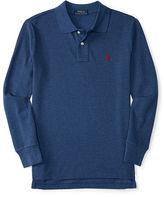 Ralph Lauren Cotton Mesh Long-Sleeve Polo