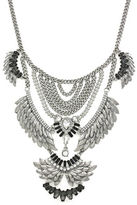 BCBGeneration Birds of a Feather Silvertone Drama Necklace