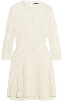 Maje Guipure Lace Mini Dress
