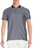 Vince Camuto Ribbed Cotton Polo