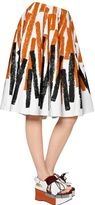 Marni Printed Cotton & Linen Drill Skirt