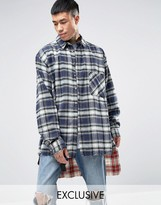 Reclaimed Vintage Oversized Flannel Shirt With Extended Hem