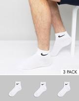 Nike 3 Pack Socks In Quarter Length Sx4706-101