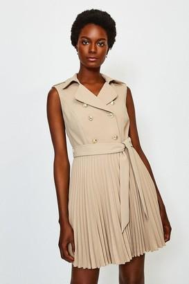 Karen Millen Military Pleated Skirt Dress