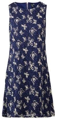 Dorothy Perkins Womens *Izabel London Navy Butterfly Print Shift Dress, Navy