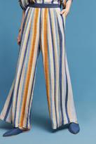 Blank Vertical Stripe Wide-Legs