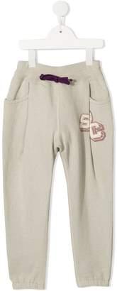 Denim Dungaree elasticated waist trousers