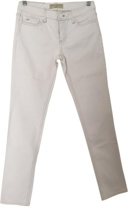 Marc by Marc Jacobs White Cotton Trousers for Women