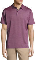 Peter Millar Collection Cote d'Azur Striped Silk-Cotton Polo Shirt