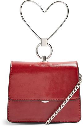 Topshop Mini Lily Heart Handbag