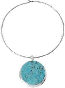 Robert Lee Morris Semiprecious Turquoise Pendant Necklace